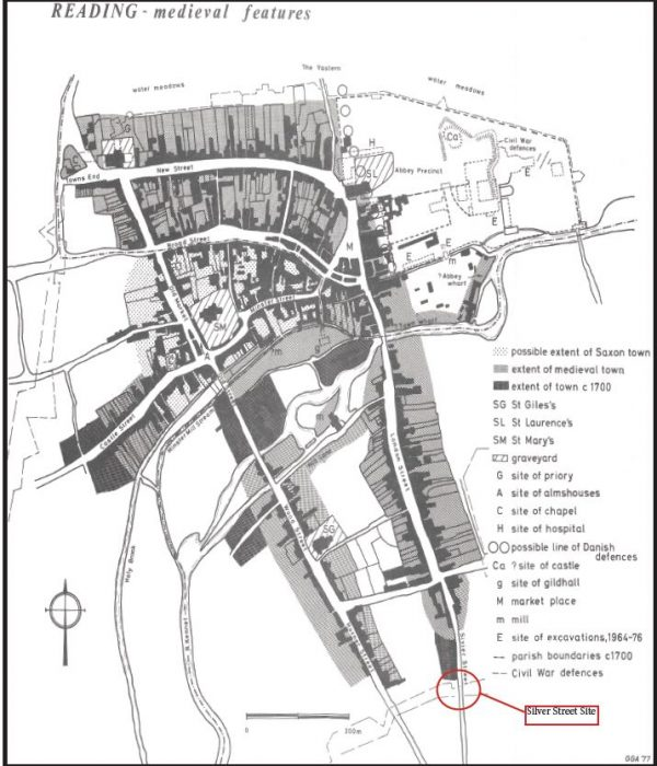 Silver Street Excavation - Medieval Reading Map