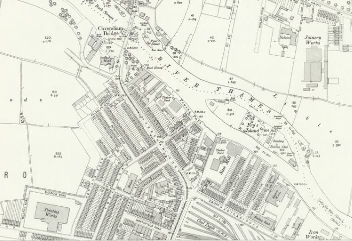 1913 - Map Caversham Road (National Library of Scotland)