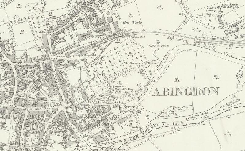 Abingdon Gas - OS Map 1910