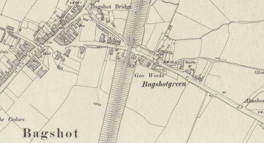 Bagshot Gas - OS Map 1899
