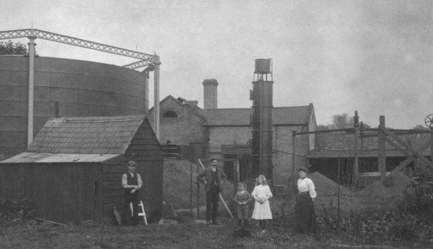 Hungerford Gas - Gasworks photo 1905 (Hungerford Virtual Museum)