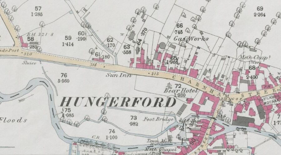 Hungerford Gas - OS Map 1886