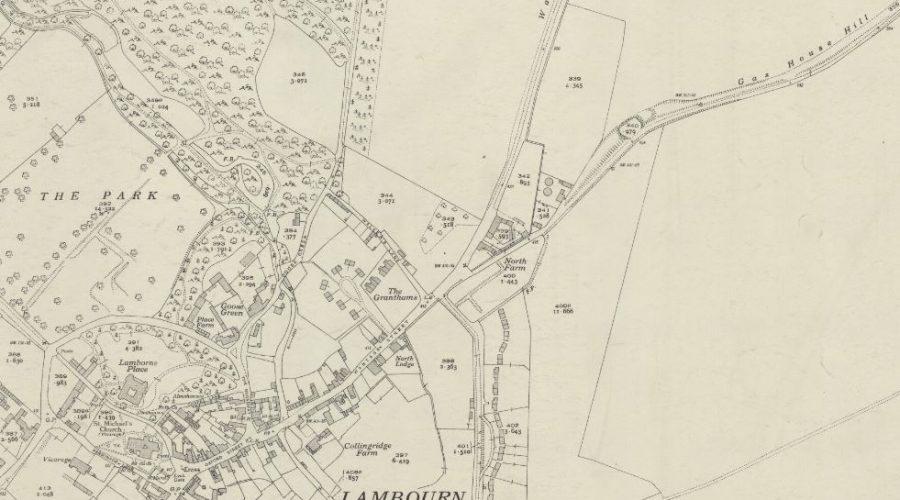 Lambourn - OS Map 1937