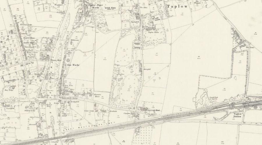 Maidenhead - Taplow - OS Map 1897