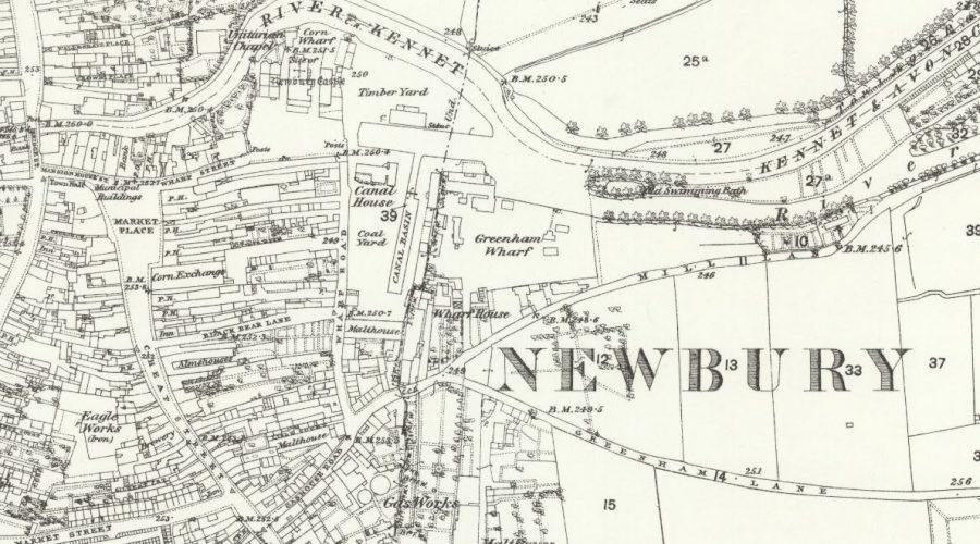 Newbury - OS Map 1880