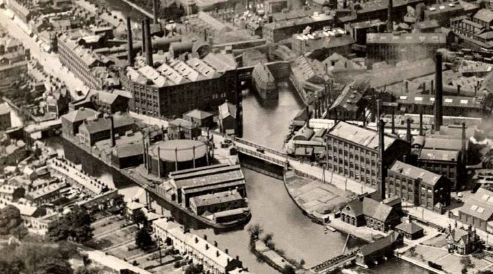 Reading Gas - Reading Union Gas Site 1920 aerial