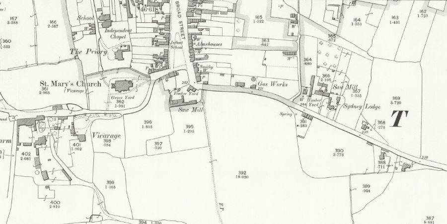 Thatcham Gas - OS Map 1900