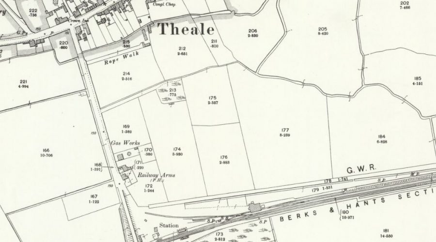 Theale Gas - OS Map 1899