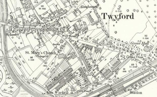 Twyford Gas - OS Map 1899