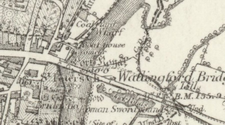 Wallingford Gas - OS Map 1883