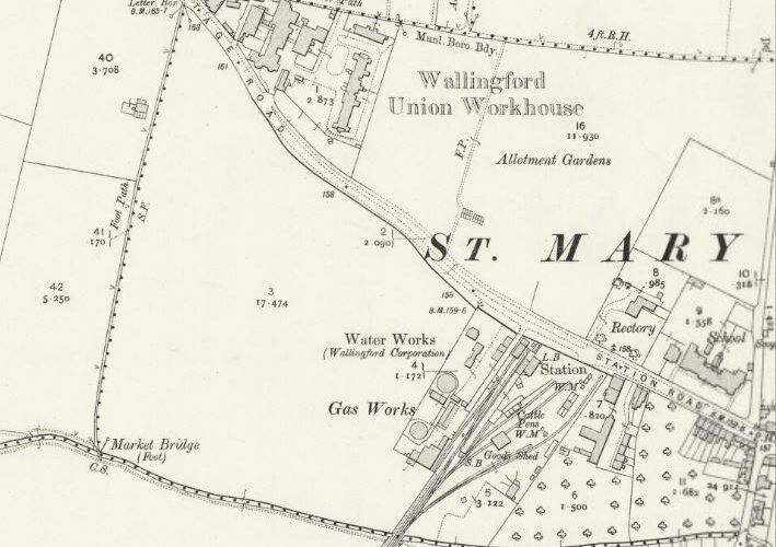 Wallingford Gas - OS Map 1912