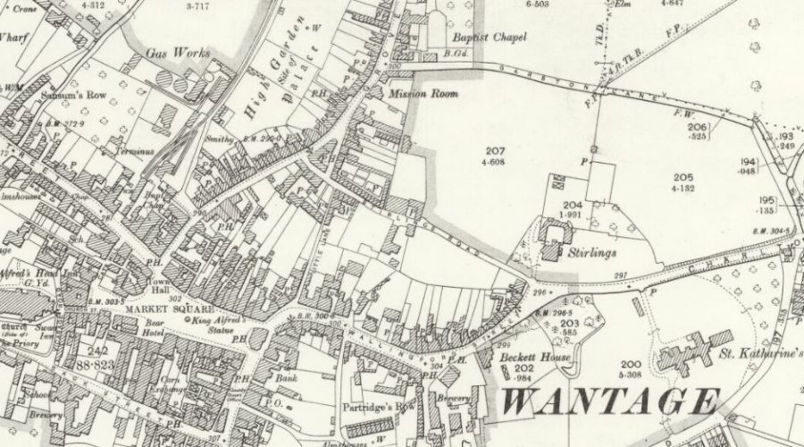 Wantage Gas - OS Map 1899
