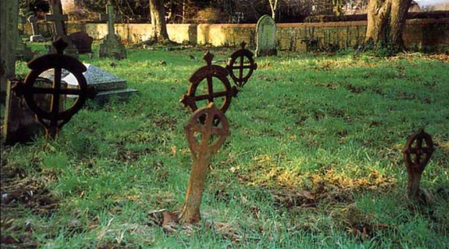 Cast Iron Grave Markers (BIAG - from Industrial Berkshire - Babtie)