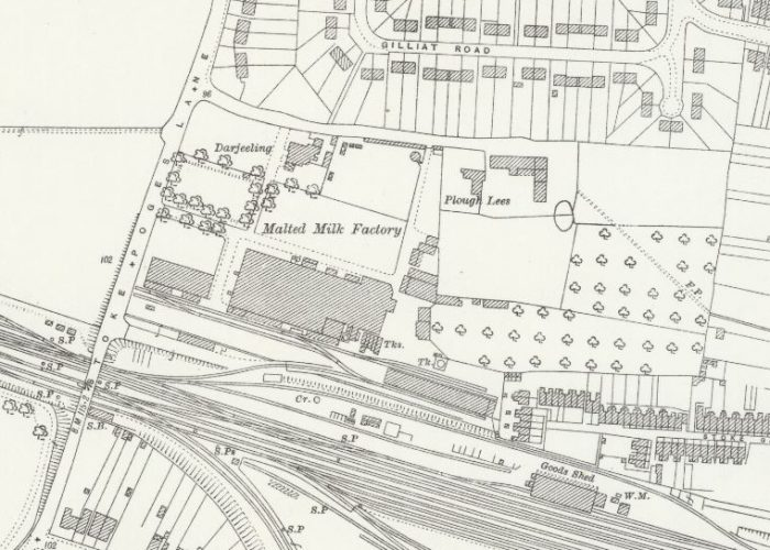 Horlicks Slough - OS Map 1923