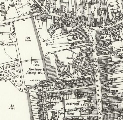 Elliotts (Albert Steam Joinery) - OS Map 1898