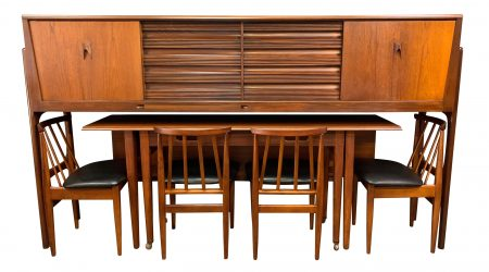 Elliotts of Newbury - Furniture - Teak Credenza Dining Set (1950s)